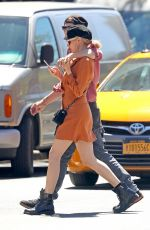 Diane Kruger Showing legs while out in New York