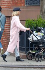 Diane Kruger Using her pram as a shopping trolly while out and about in NYC