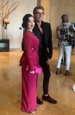 Dita Von Teese Gets glam for the GLAAD Awards at the Beverly Hilton Hotel