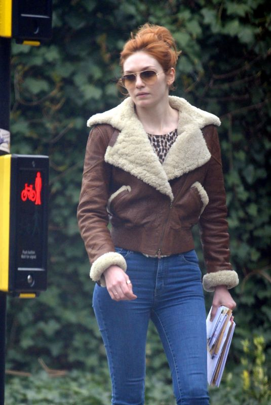 Eleanor Tomlinson Out and about in London