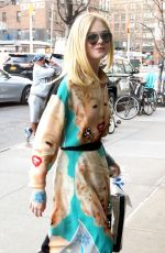 Elle Fanning Arriving at the Bowery Hotel in NYC