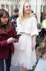 Elle Fanning Leaving SiriusXM studios in NYC