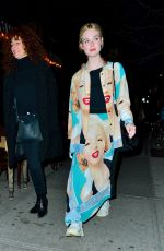 Elle Fanning Out for dinner in NYC