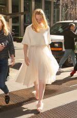 Elle Fanning Out in New York City