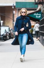 Emily Blunt Embraces the spring weather as she enjoys a morning stroll in Tribeca
