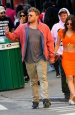 Emily Ratajkowski Kisses husband Sebastian Bear-McClard during brunch in NYC