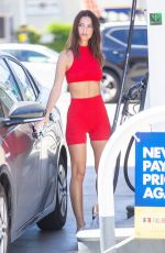 Emily Ratajkowski Stops to pump gas in LA