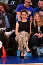 Emmy Rossum At Detroit Pistons v New York Knicks game at Madison Square Garden in NYC