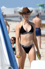 Eugenie Bouchard In bikini on the beach in Miami