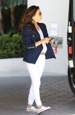 Eva Longoria Leaving Sunset Towers In Los Angeles