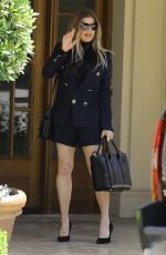 Fergie Leaves Easter Sunday church service in Brentwood