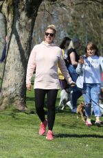 Gemma Atkinson Launches a dog walk for for the charity Cash for Kids in Heaton Park, Manchester