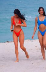 Gemma Lee Farrell and Paula Suarez show off their toned bodies in Miami