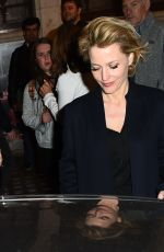 Gillian Anderson Leaving the National Theatre in London