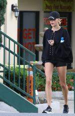 Hailey Baldwin Leaving a spa in West Hollywood