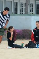Hailey Clauson Plays flag football in Venice Beach with boyfriend Julian Herrera