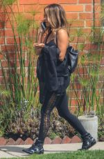 Halle Berry Out for a walk while chatting on her phone in LA