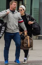 Halsey Arriving at Heathrow Airport in London