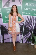 Hayley Orrantia At JustFab and Shoedazzle present - The Desert Oasis in LA