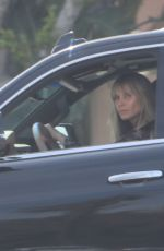 Heidi Klum Makeup free while driving to work in Los Angeles