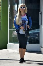Holly Madison Heading to the gym in Studio City