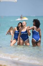 Iskra Lawrence In a bikini and swimsuit at Miami Beach