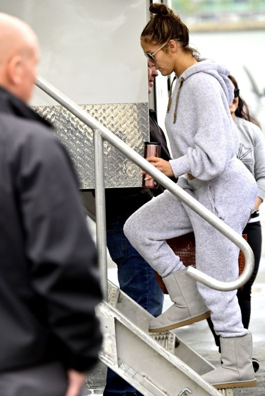 Jennifer Lopez Ahead of another busy day filming