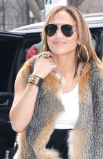 Jennifer Lopez Leaving the Z100 studios in NYC