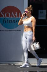 Jennifer Lopez Outside a gym in Miami