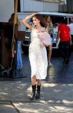 Kaia Gerber In a long white dress leaving for DVF event in West Hollywood