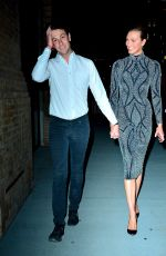 Karlie Kloss and husband Josh Kushner leave the Project Runway party In New York