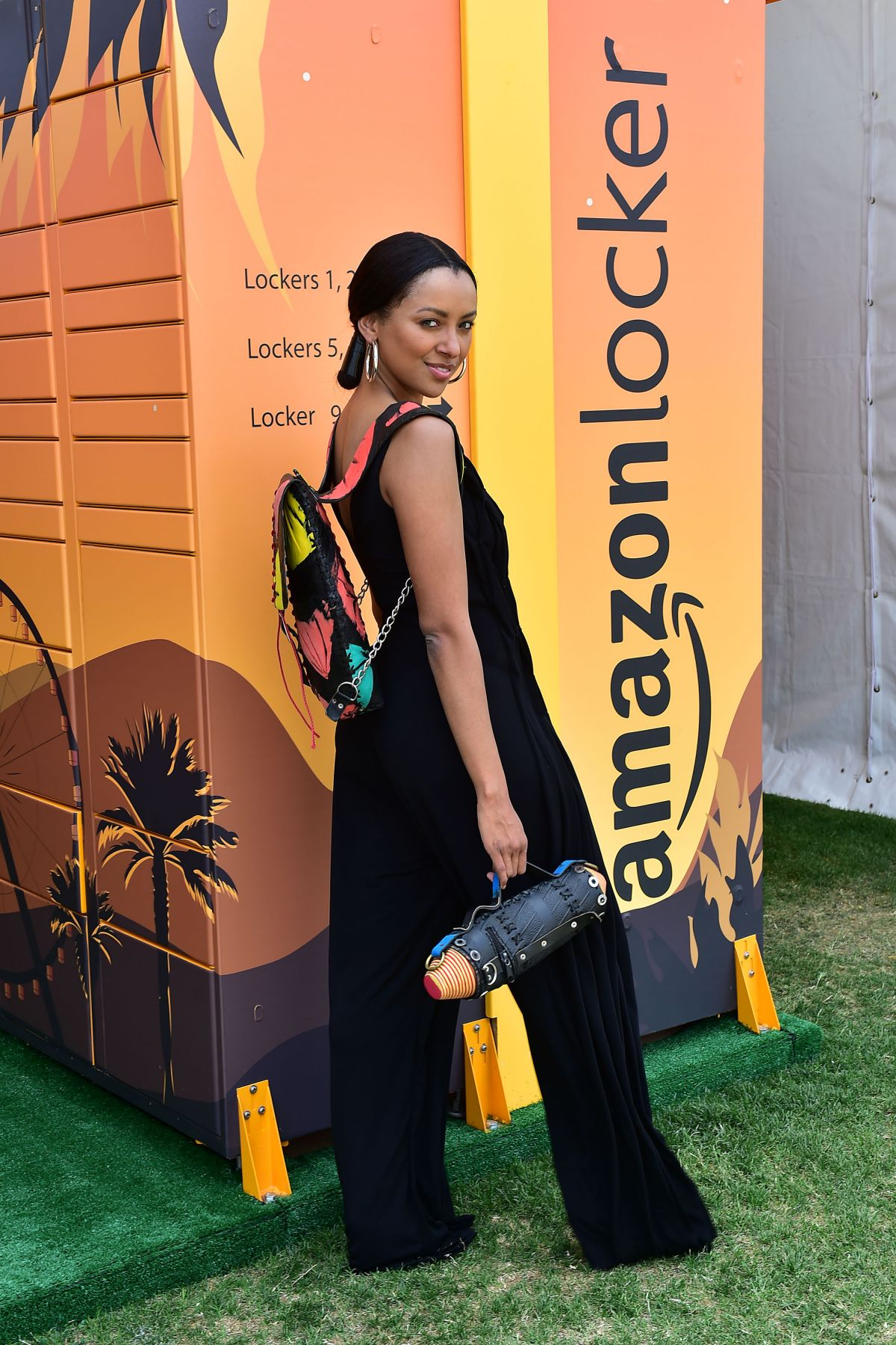 Kat Graham At Amazon Lockers at Coachella Valley Music and