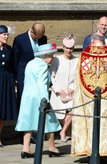 Kate Middleton Attends the traditional Easter Sunday church service at St George