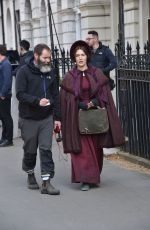 Kate Winslet On set of her latest movie Ammonite in London