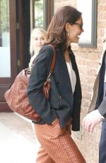 Katie Holmes Arriving at the Tribeca Film Festival Luncheon at the Greenwich hotel, NYC