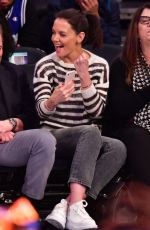 Katie Holmes At Washington Wizards v New York Knicks game at Madison Square Garden in NYC