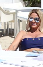 Katie Price During a photoshoot in Ibiza for upcoming Calendar