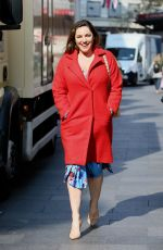 Kelly Brook Leaving Global Radio Studios in London