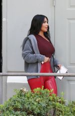 Kim Kardashian Arrives At A Party In Calabasas