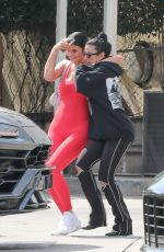 Kylie Jenner Leaves with a smile after lunch at Fresh Corn Grill In West Hollywood