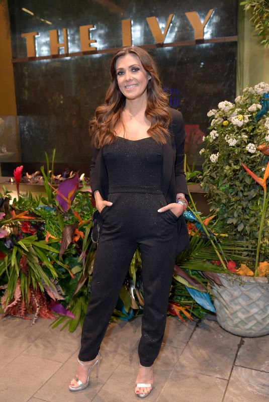 Kym Marsh At The Ivy Manchester Roof Top Re Launching A Circus Party in Manchester