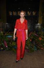 Lara Stone At The Ivy Manchester Roof Top Re Launch with a circus party