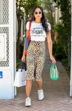 Laura Harrier Shops at Violet Grey on Melrose Place this afternoon for a casual day of shopping in West Hollywood