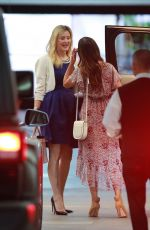 Lea Michele All smiles as she meets up with a friend at Soho House in West Hollywood