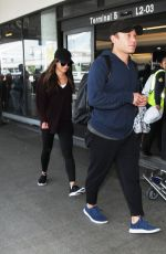 Lea Michele Spotted at LAX