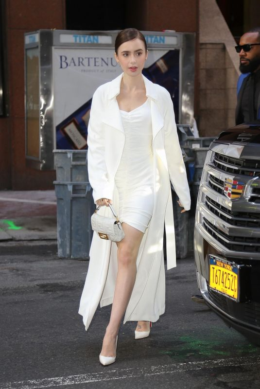 Lily Collins Arriving at the Today Show in NYC