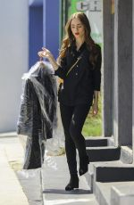 Lily Collins At A Trip to the dry cleaners in West Hollywood
