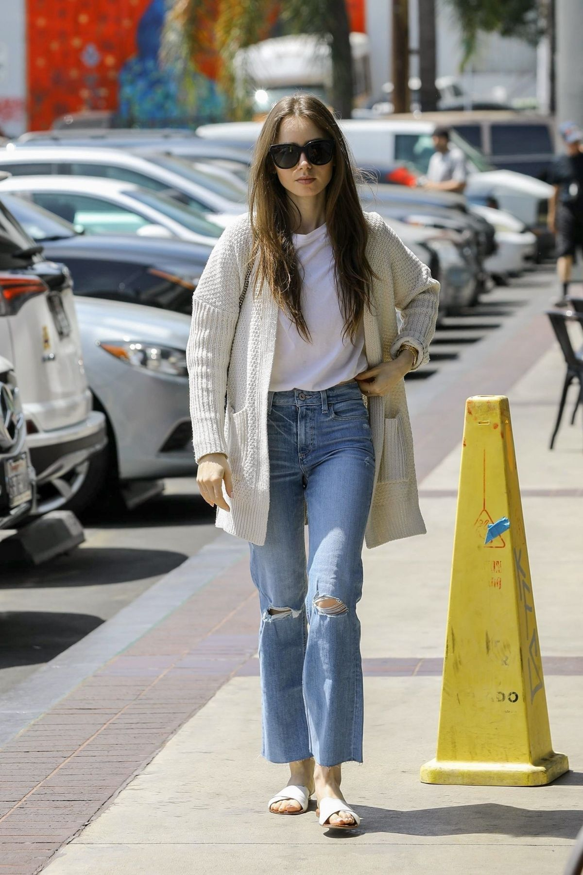 Lily Collins - Out & About in West Hollywood 10/26/15 ...