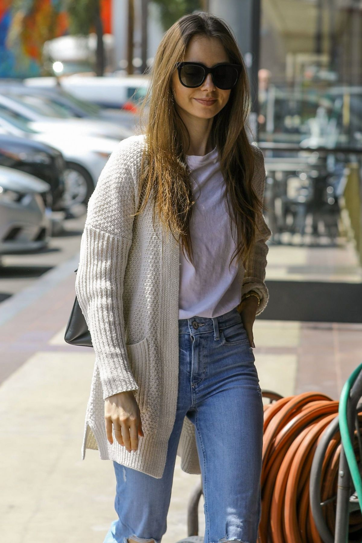 Lily Collins Stocks Up On Health Food At Earth Bar In West ...