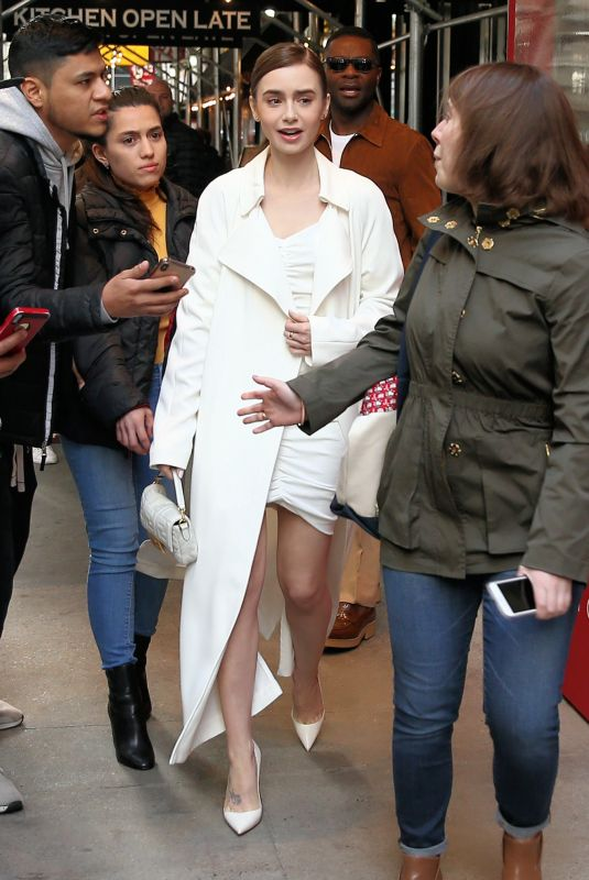 Lily Collins Leaving The Chatwal Hotel in NYC